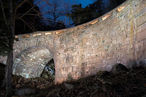 Amphitheater Bridge, painted by 42 volunteers on December 1st, 2012. Photo courtesy Howie Motenko.