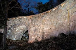 Amphitheater Bridge, painted by 42 volunteers on December 1st, 2012. Photo courtesy Howie Motenko.