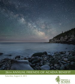 26th Annual Friends of Acadia Benefit, August 8, 2015