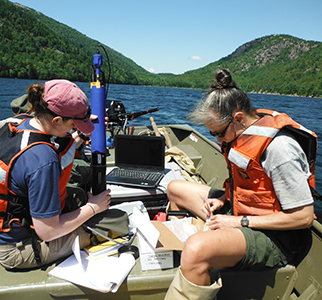 Water-quality monitoring on Jordan Pond