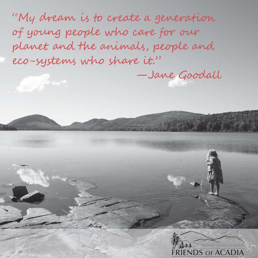 My dream is to create a generation of young people who care for our planet and the animals, people and eco-systems who share it. --Jand Goodall