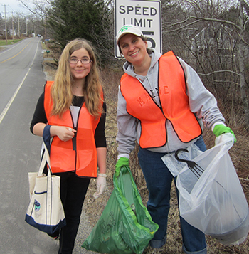 FOA Earth Day Roadside Cleanup volunteers.