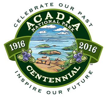 Acadia Centennial Logo