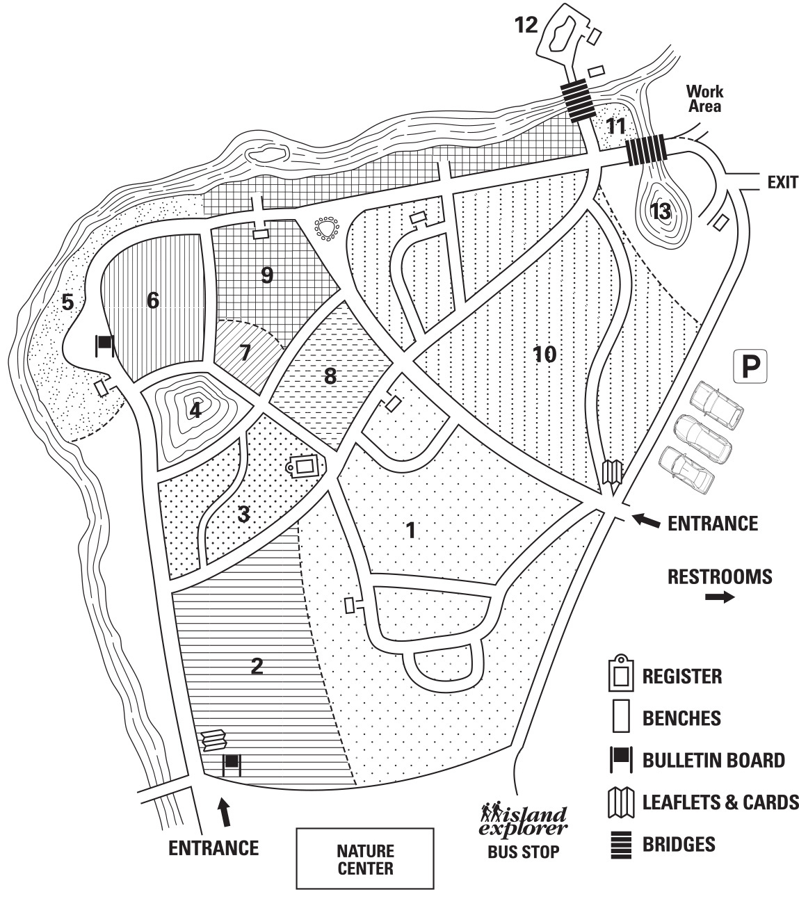 Visitors Map of the Wild Gardens of Acadia