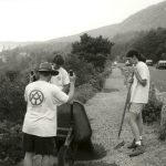 Acadia Youth Conservation Corps assists with the reconstruction of the Ocean Path in 1999