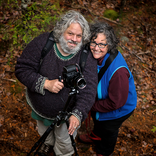 Howie Motenko and Brenda Beckett, near Upper Hadlock Pond. Phograph by george soules