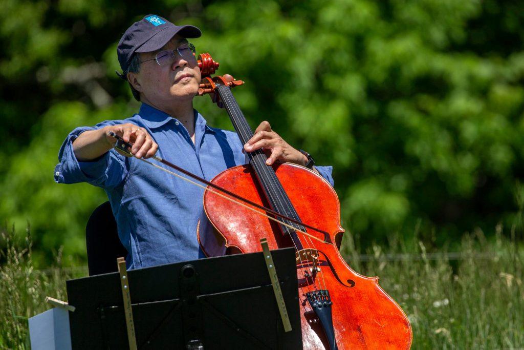 Cellist Yo-Yo Ma & the U.S. Secretary of the Interior Visit Acadia!